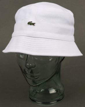Lacoste Bucket Hat White