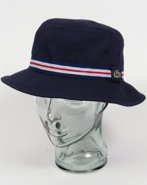 Lacoste Bucket Sun Hat Navy with trim