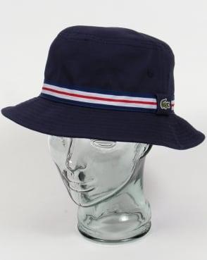 Lacoste Bucket Sun Hat Navy with trim