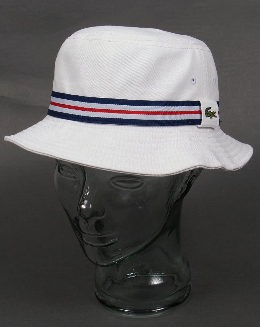 Lacoste Sport Bucket Hat White,mens,pique,logo