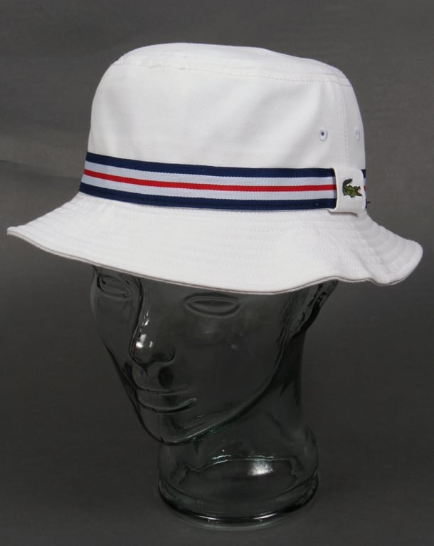 Lacoste Bucket Sun Hat White