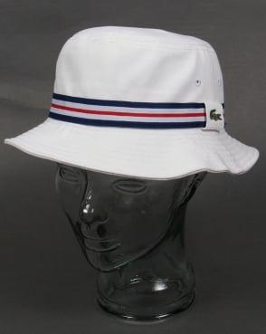 Lacoste Bucket Sun Hat White
