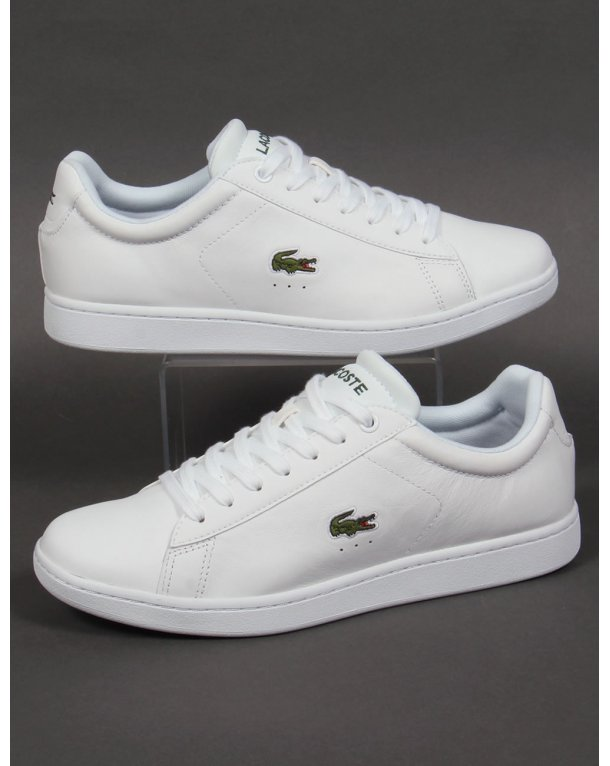Lacoste Carnaby Evo Trainers White Green Croc Shoes Mens