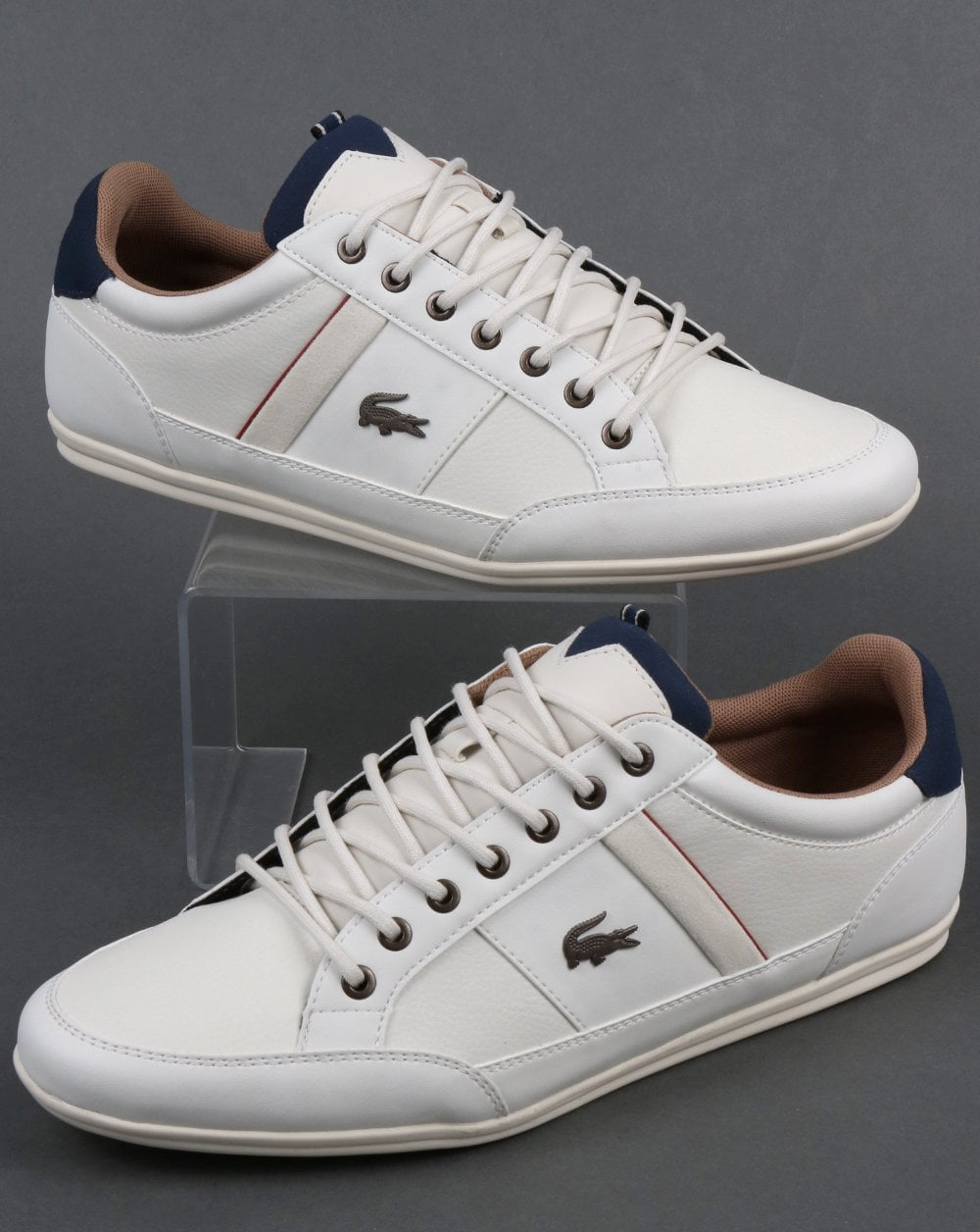 d81bd053377a Lacoste Lacoste Chaymon Trainers Off White Navy
