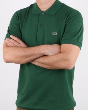 Lacoste Classic 2 Button Polo Shirt Green