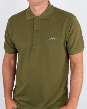 Lacoste Classic Two Button Polo Shirt Army