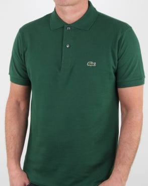 Lacoste Classic Two Button Polo Shirt Green