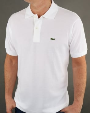 Lacoste Classic Two Button Polo Shirt White