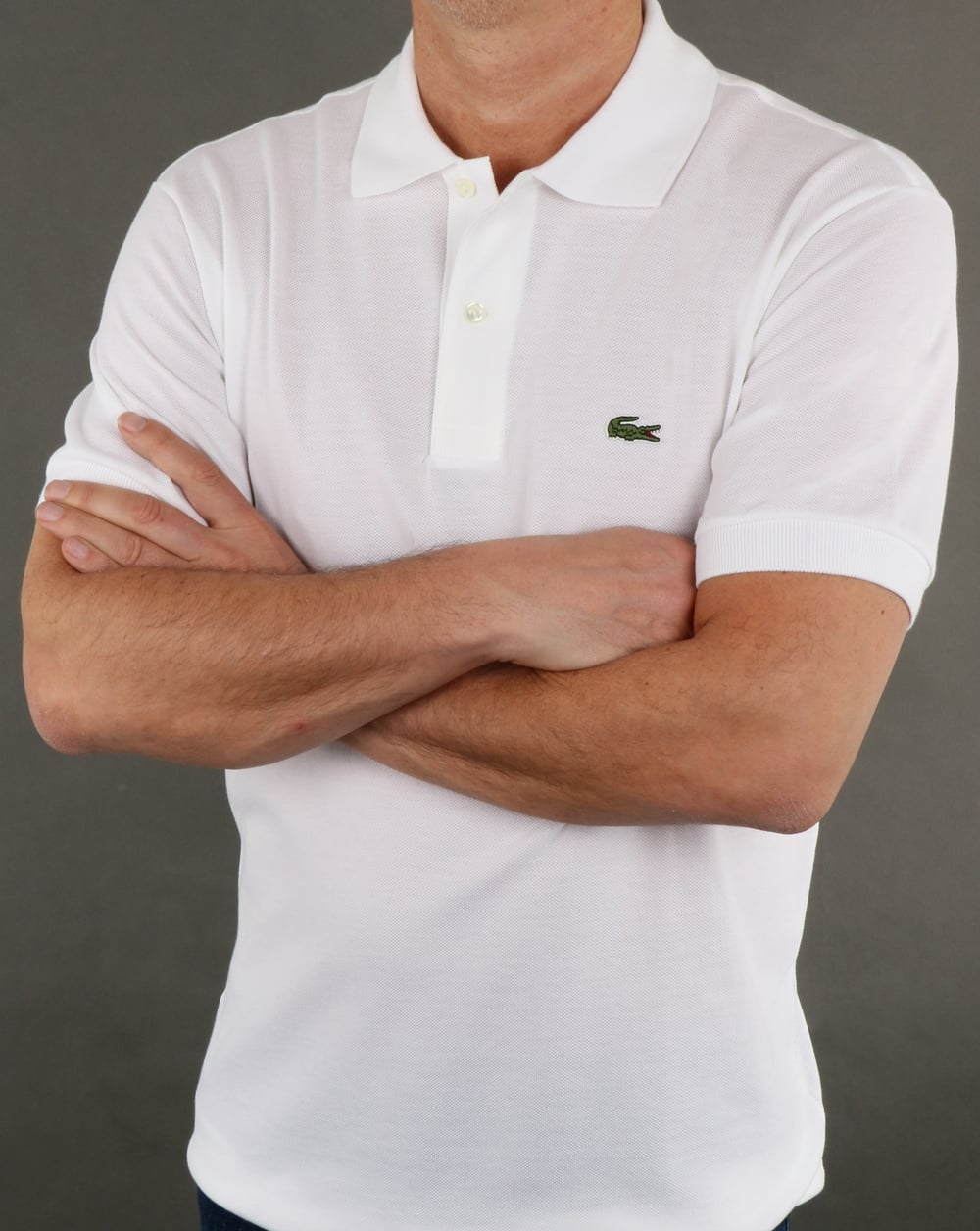 c1c5df55 Lacoste Classic Two Button Polo Shirt White