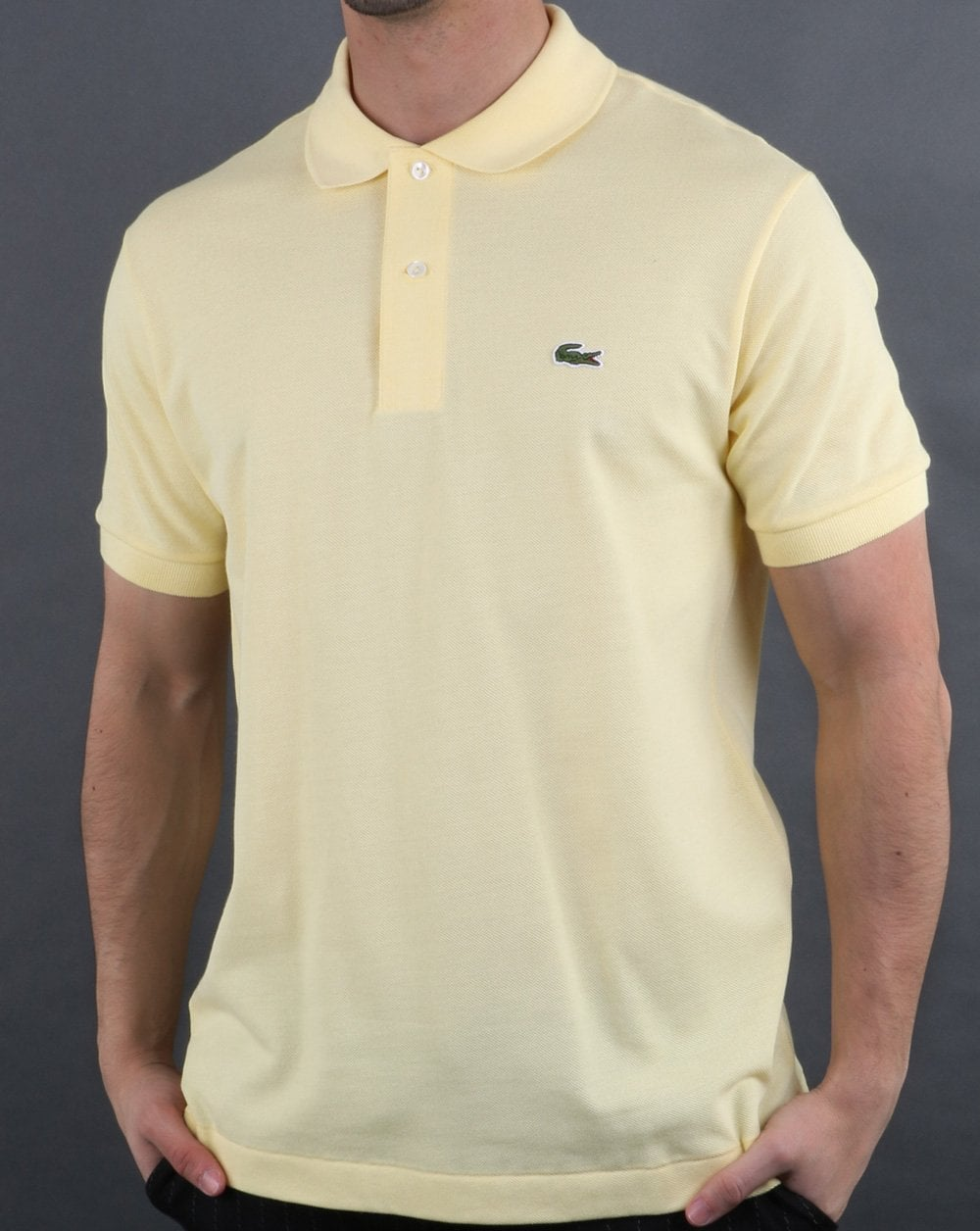 2055467a2a Lacoste Classic Two Button Polo Shirt Yellow