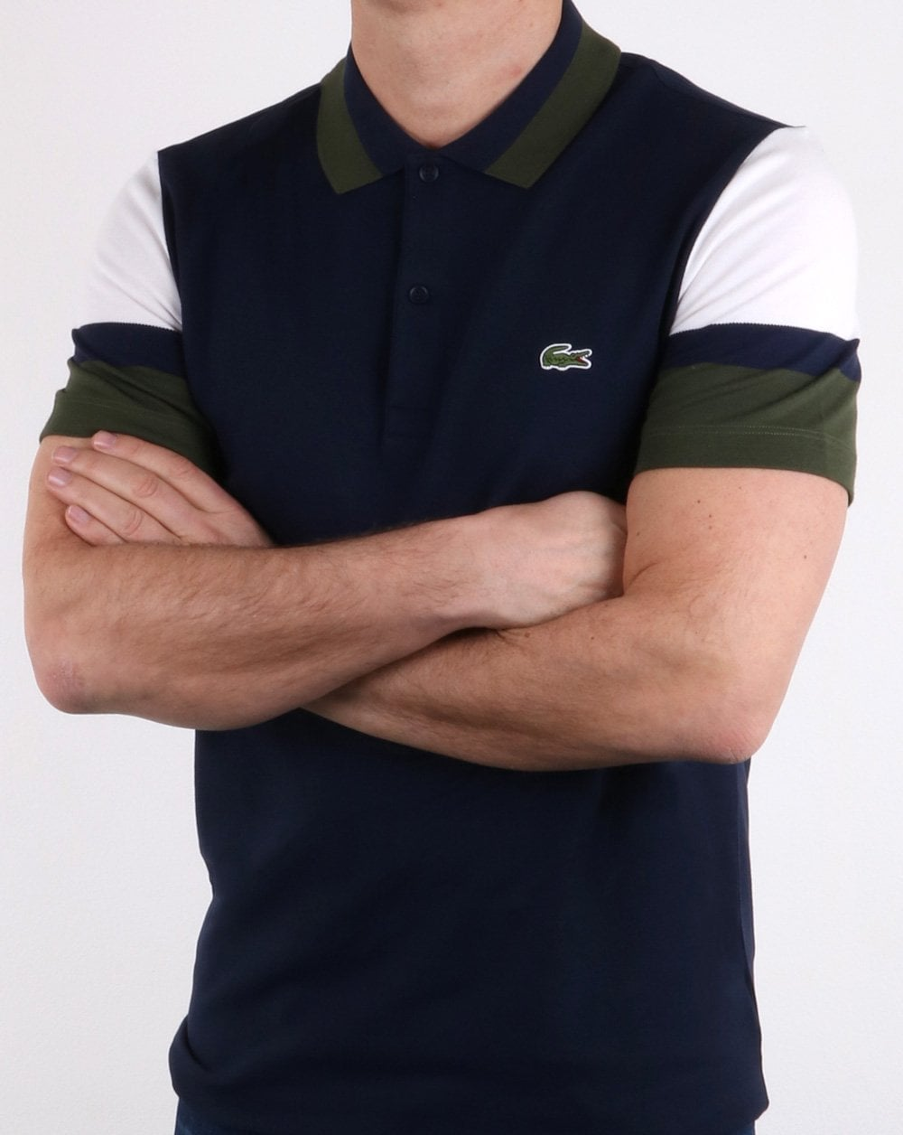 ac1c9618 Lacoste Colour Sleeve Polo Shirt Navy | 80s Casual Classics