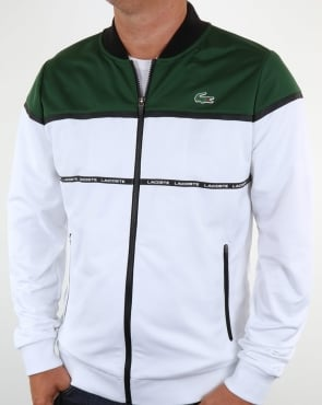 Lacoste Colourblock Track Top White/Green