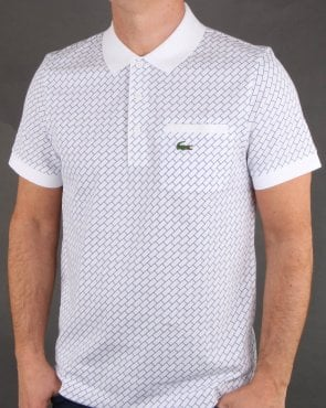 Lacoste Contrast Collar Polo Shirt White/inkwell