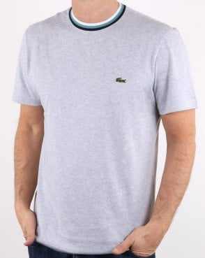 Lacoste Contrast Crew T-shirt in Grey