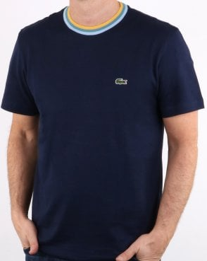 Lacoste Contrast Crew T-shirt Navy