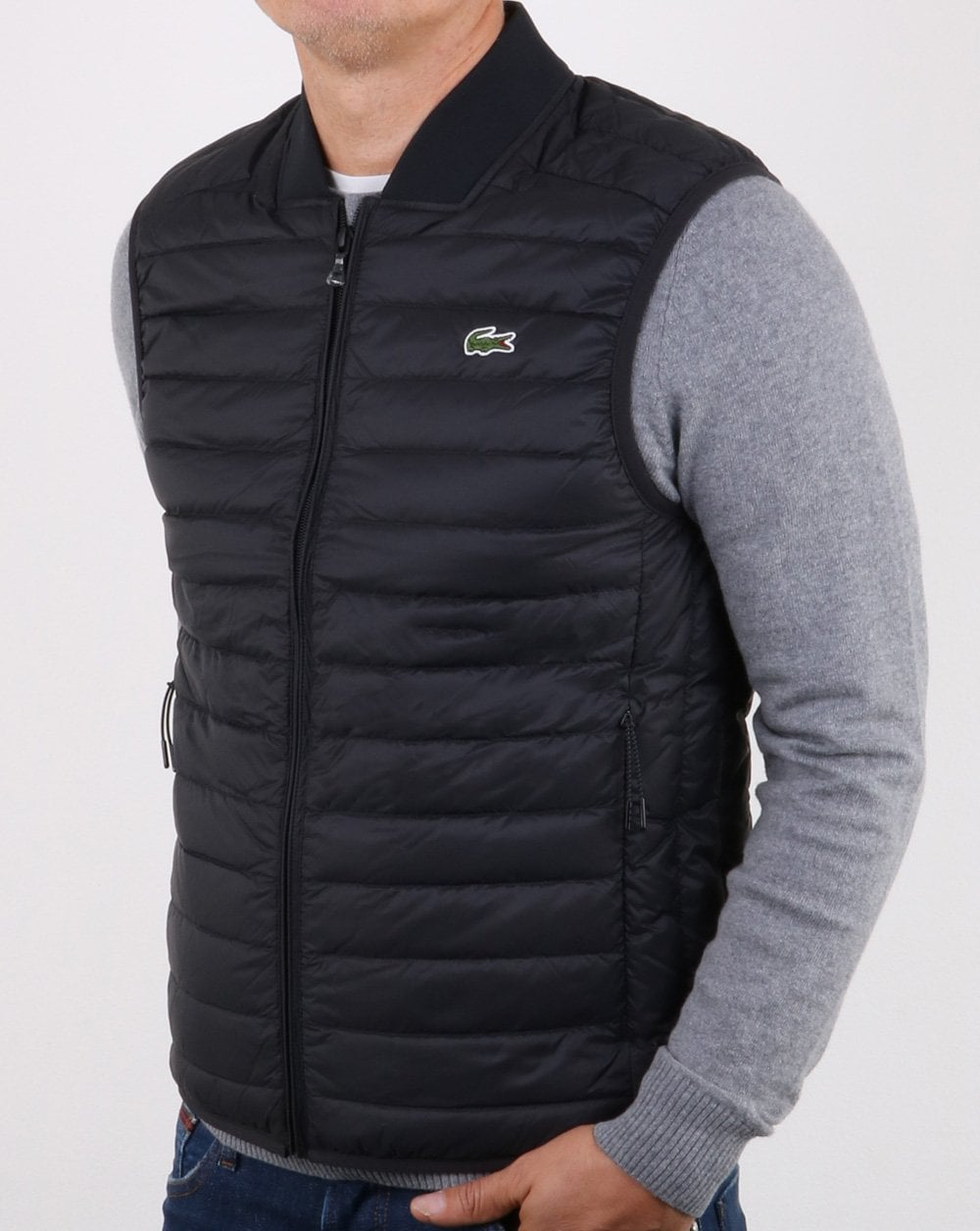 47a6dc50600d Lacoste Lacoste Contrast Lining Quilted Vest Black