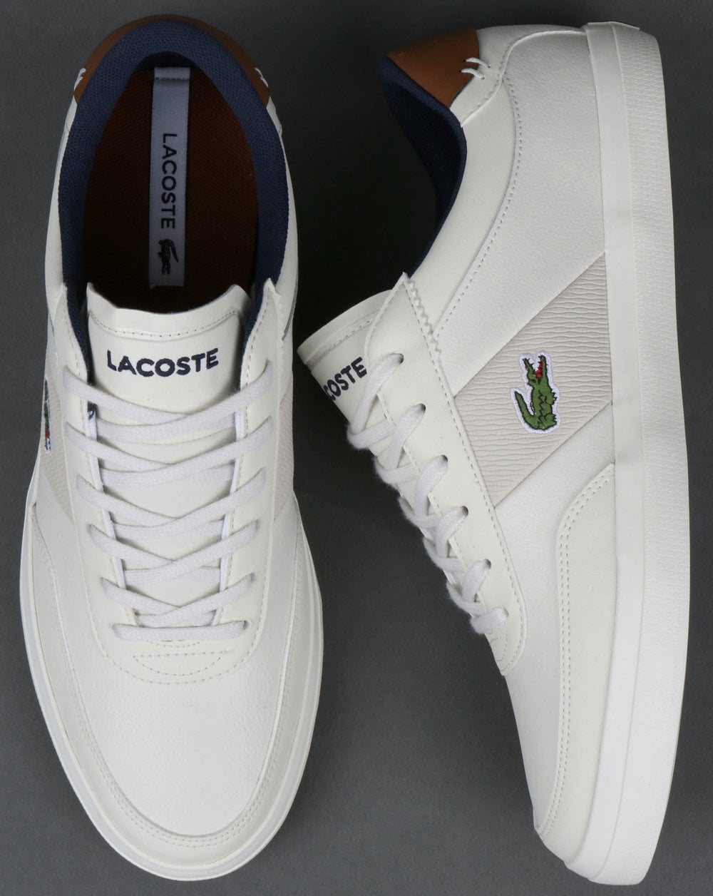 Off Master Trainer shoes Lacoste Court leather 318 summer Whitenavy N80Owvmn