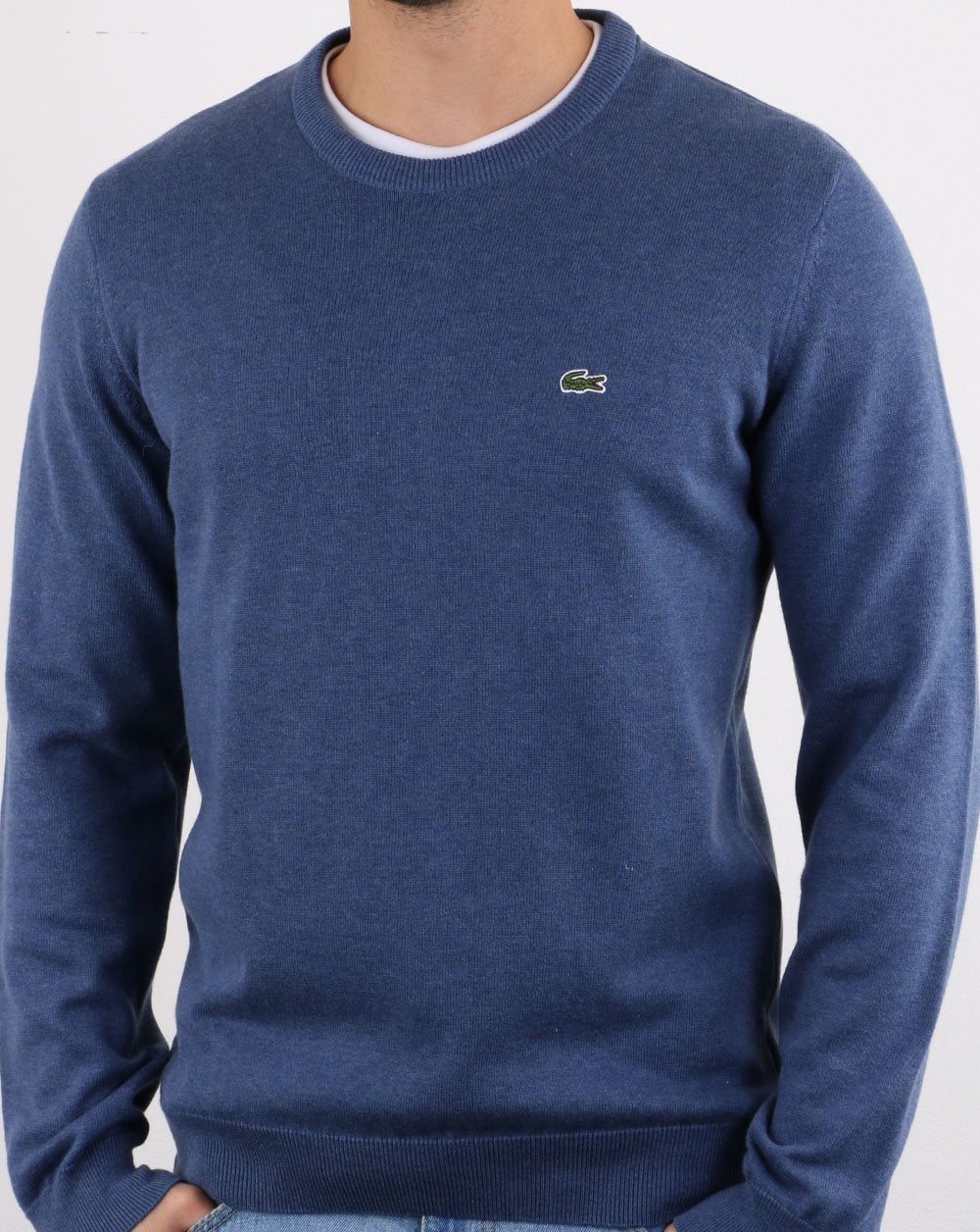 2019 original sleek sale usa online Lacoste Crew Neck Jumper Blue