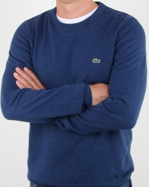 Lacoste Crew Neck Jumper Dep Royal Blue