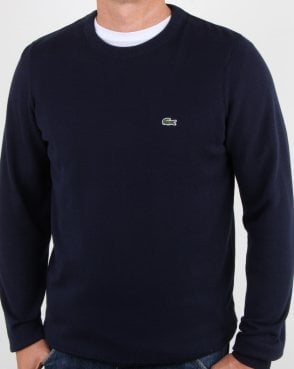 Lacoste Crew Neck Jumper Navy