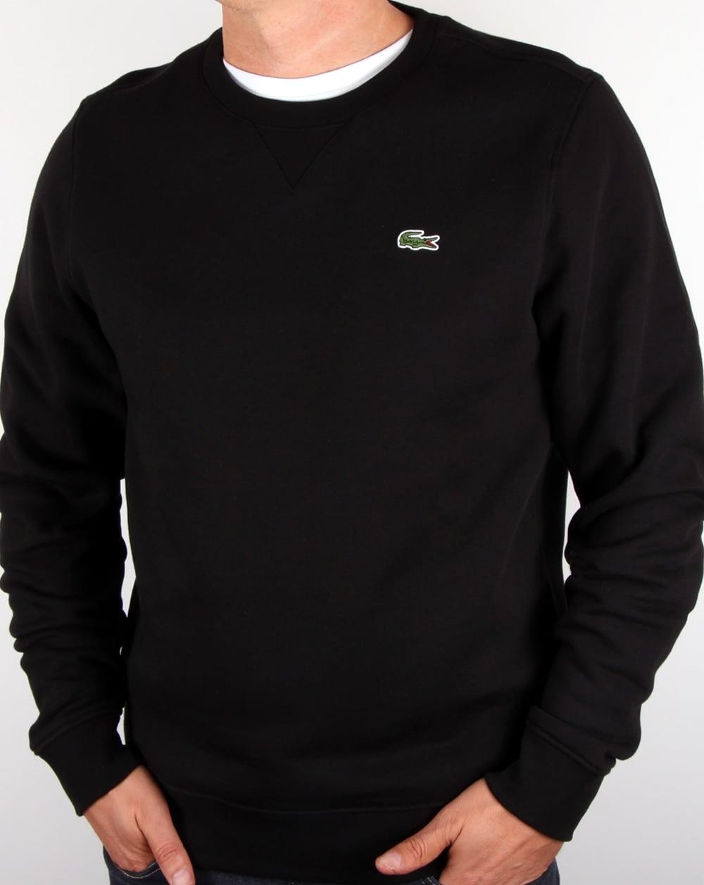 2a1b88607b Lacoste Crew Neck Sweatshirt Black