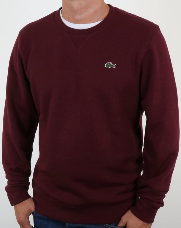 Lacoste Crew Neck Sweatshirt Deep Red Marl