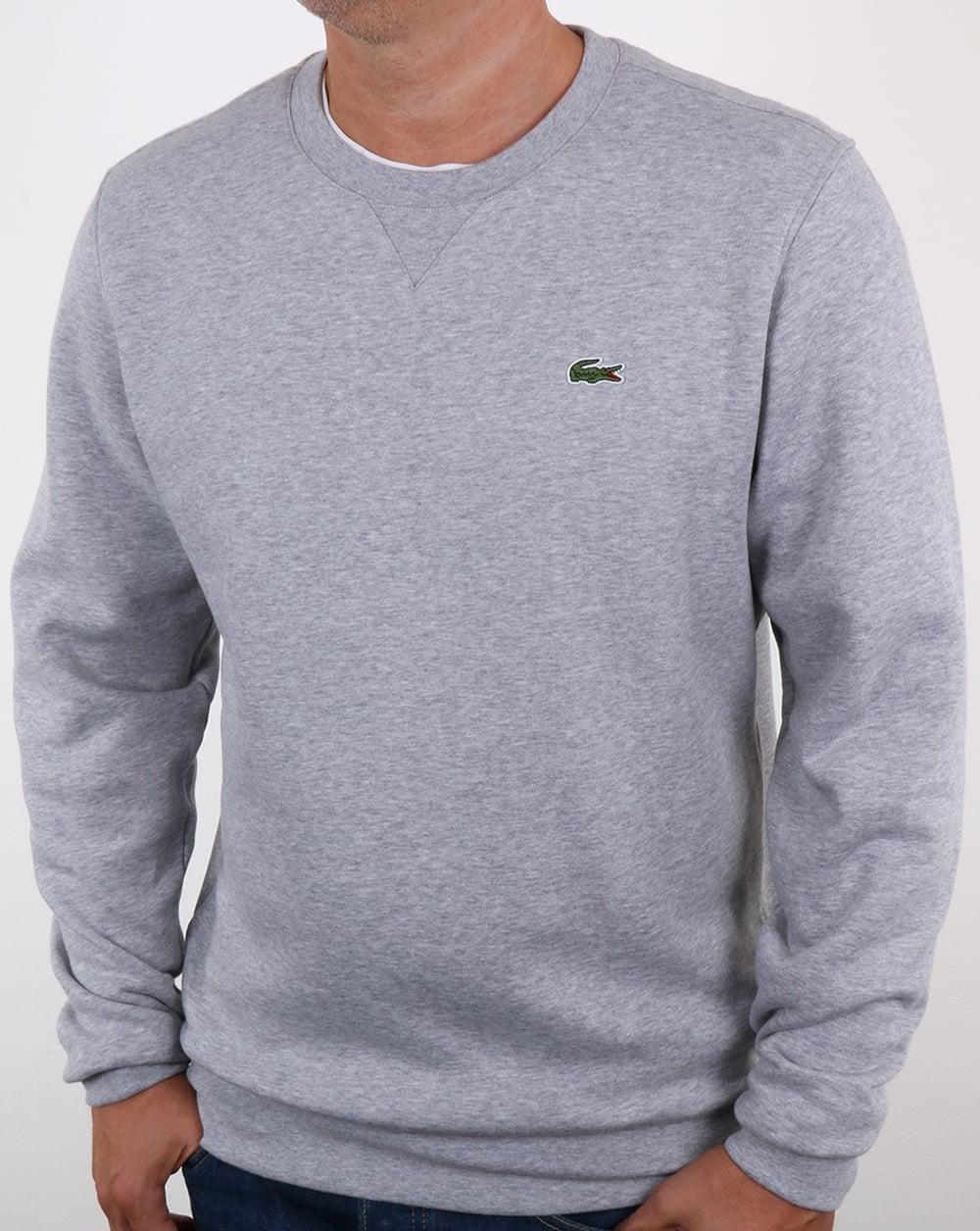 4651134f0 Lacoste Crew Neck Sweatshirt Grey Marl