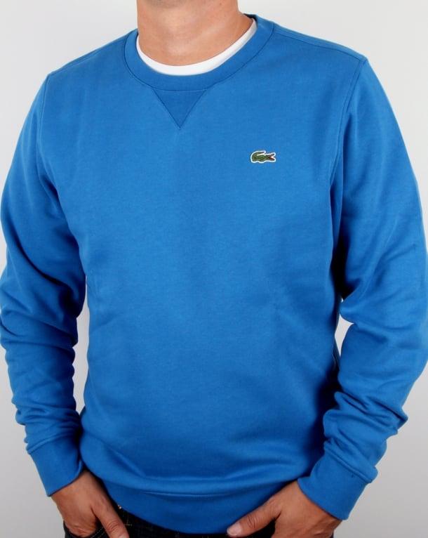 mens neck Ink jumper Neck Lacoste Crew round Sweatshirt Blue sweater txzYHq