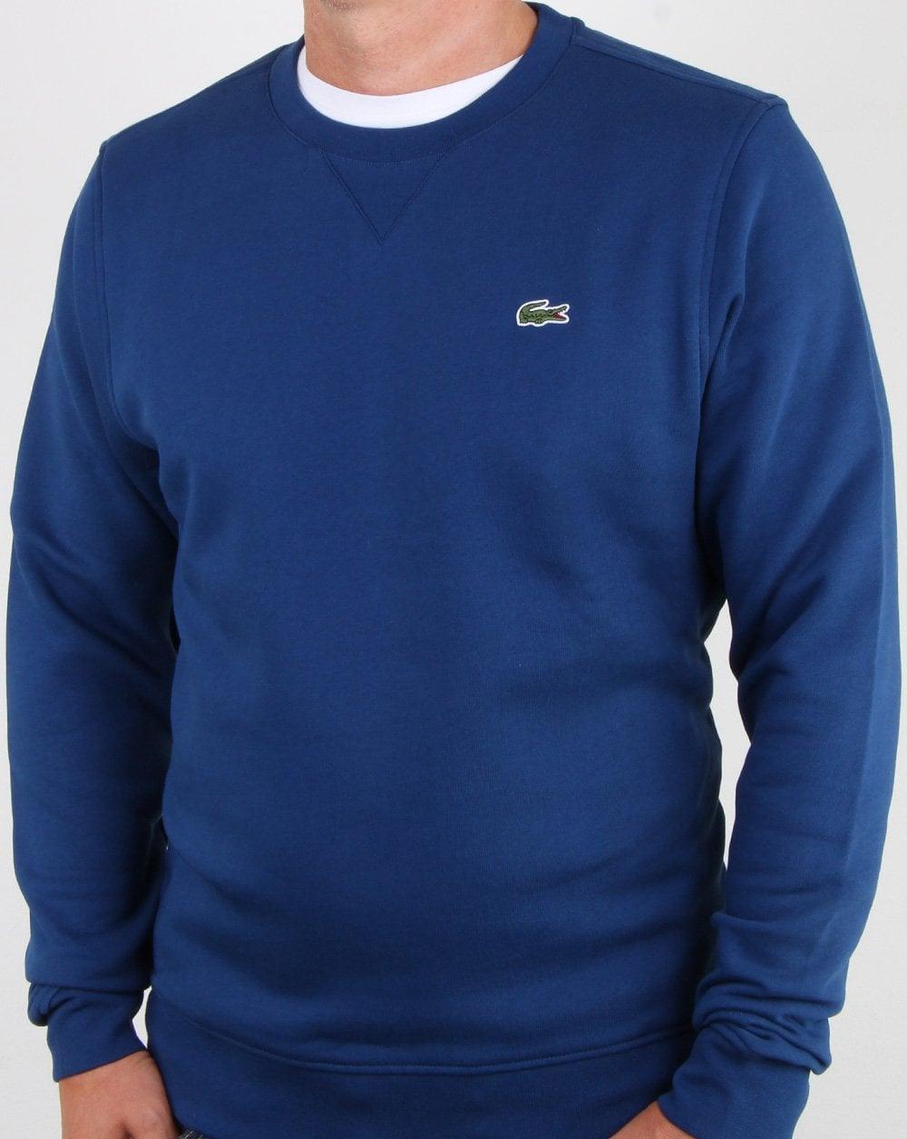 69cf5ec36b Lacoste Crew Neck Sweatshirt Inkwell Blue, Mens,Sweat,Crew,Croc,Winter