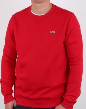 Lacoste Crew Neck Sweatshirt Red