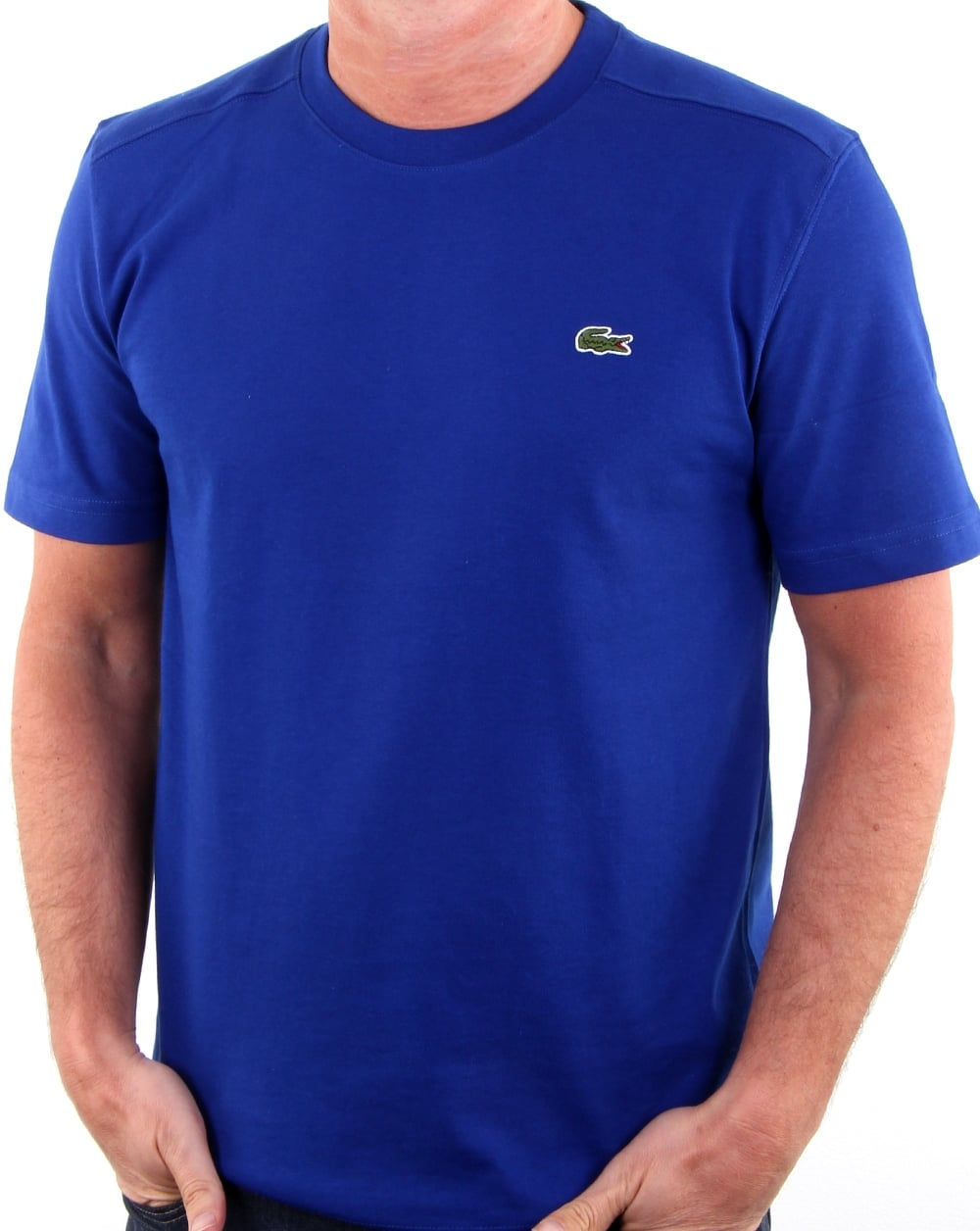 Lacoste Crew Neck T Shirt French Blue Men 39 S Tee