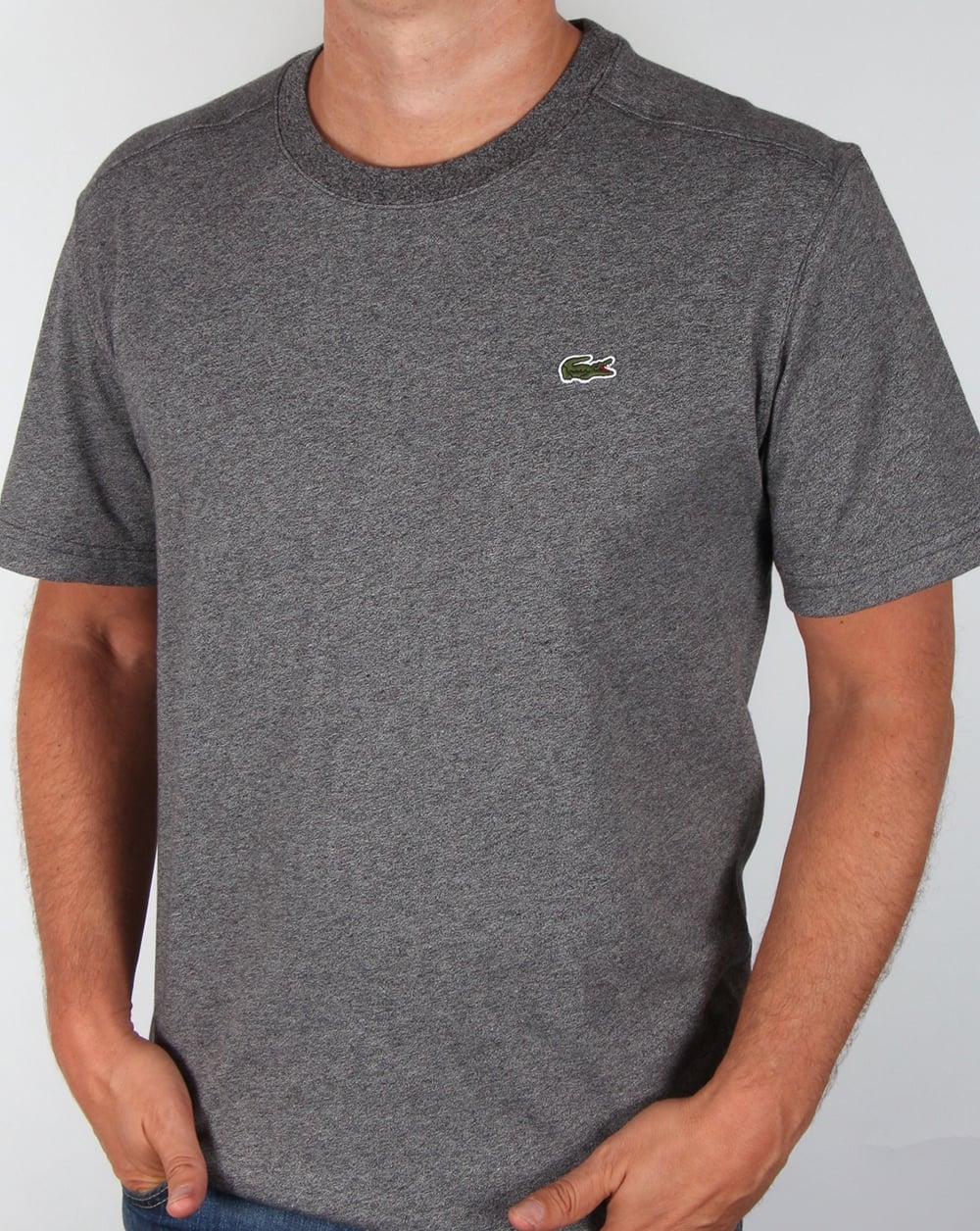 lacoste crew neck t shirt grey tee crew neck sport mens