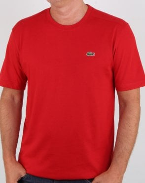 Lacoste Crew Neck T-shirt Red