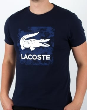 Lacoste Croc Stamp T Shirt Navy