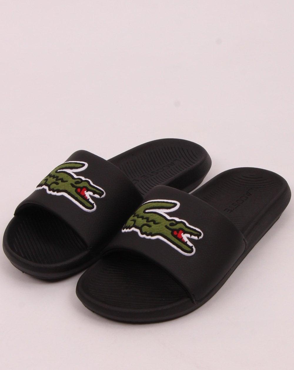 Lacoste Croco Slide Black/Green