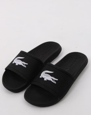 Lacoste Croco Slide Black/white