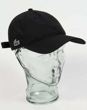Lacoste Diamond Weave Cap Black