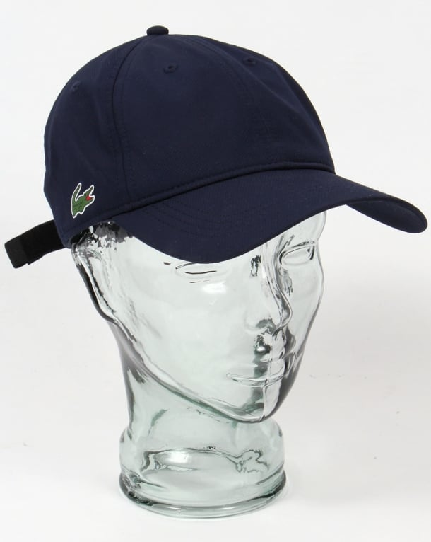 Lacoste Diamond Weave Cap Navy