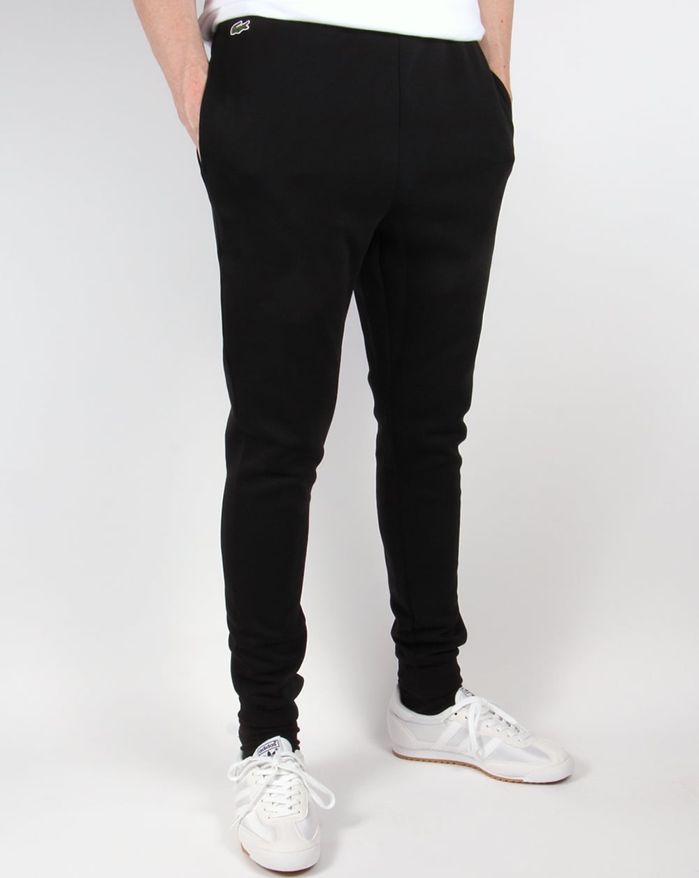 Lacoste Double Faced Track Pants Black Jogging Bottoms