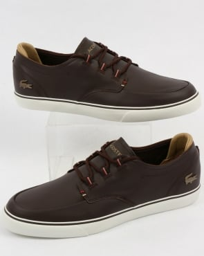 Lacoste Footwear Lacoste Esparre Deck Shoe Brown/Light Tan