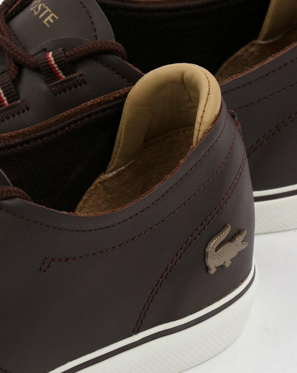 0186a4511 Lacoste Esparre Deck Shoe Brown Light Tan