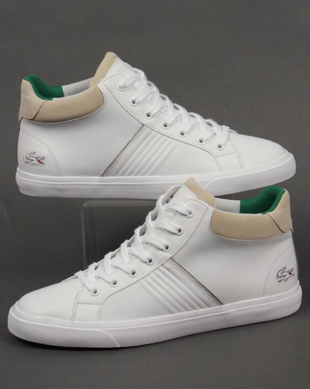 Lacoste Fairlead Mid Trainers White