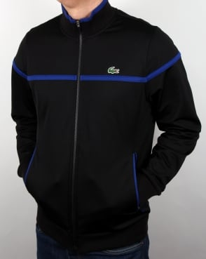 Lacoste Fine Stripe Track Top Black/french Blue
