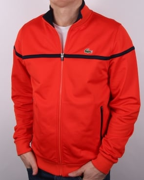 Lacoste Fine Stripe Track Top Etna Red/navy