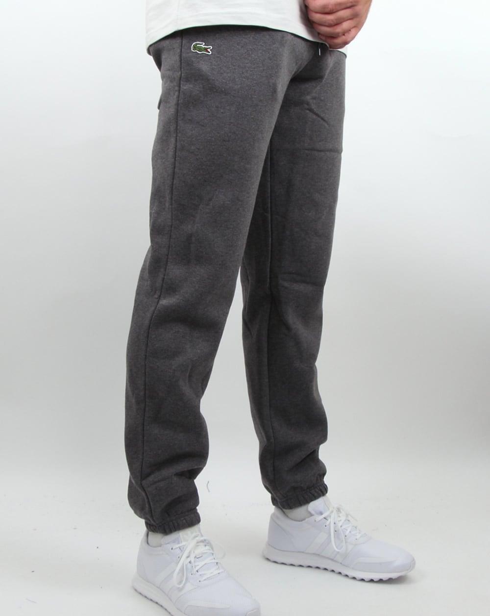 Lacoste Cotton Fleece Track Pants Dark Grey Tracksuit