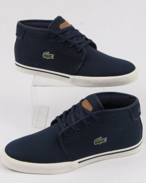 Lacoste Footwear Ampthill Trainer Navy/light Brown