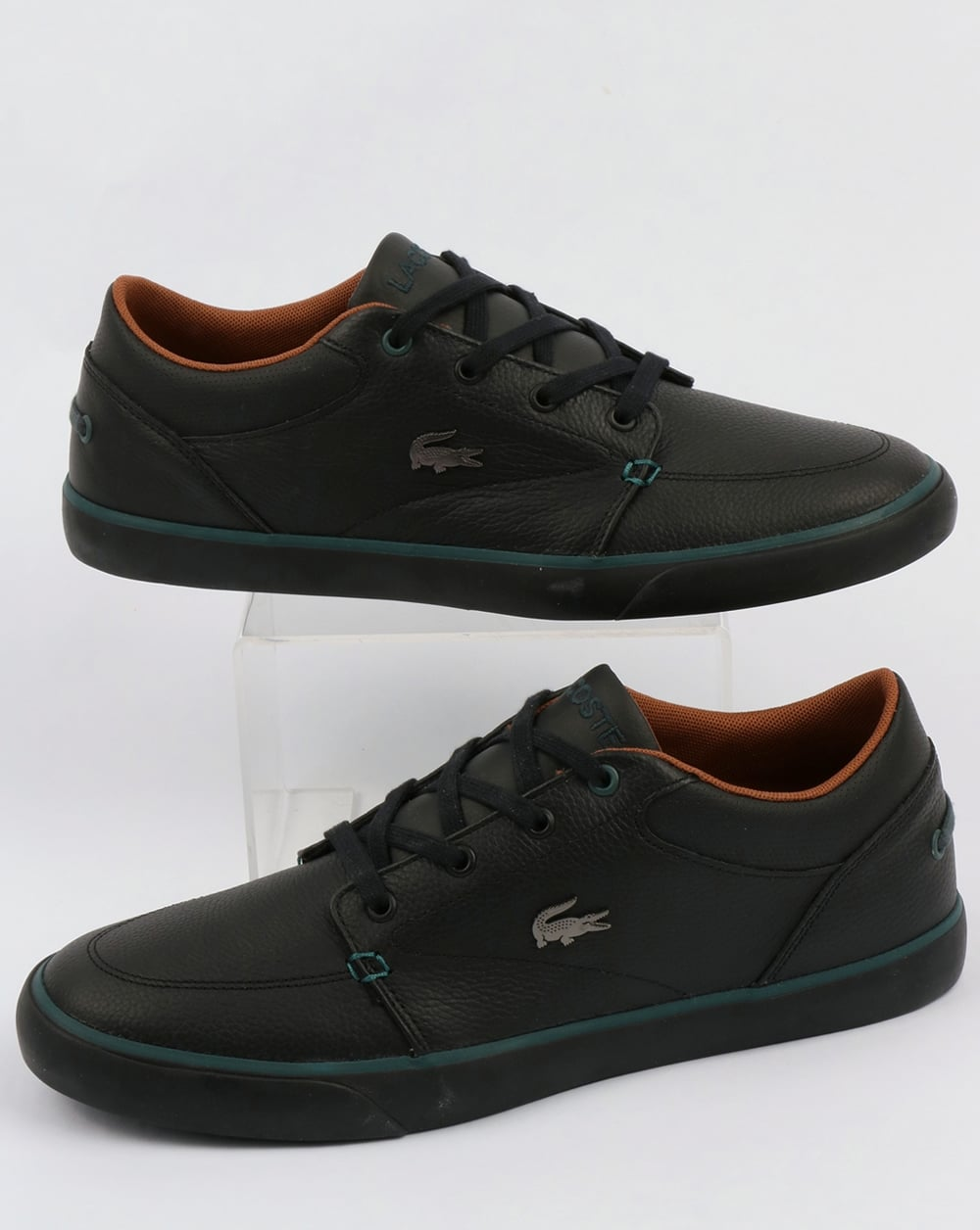 f06a4ac5a05fb3 Lacoste Lacoste Footwear Bayliss Leather Trainers Black