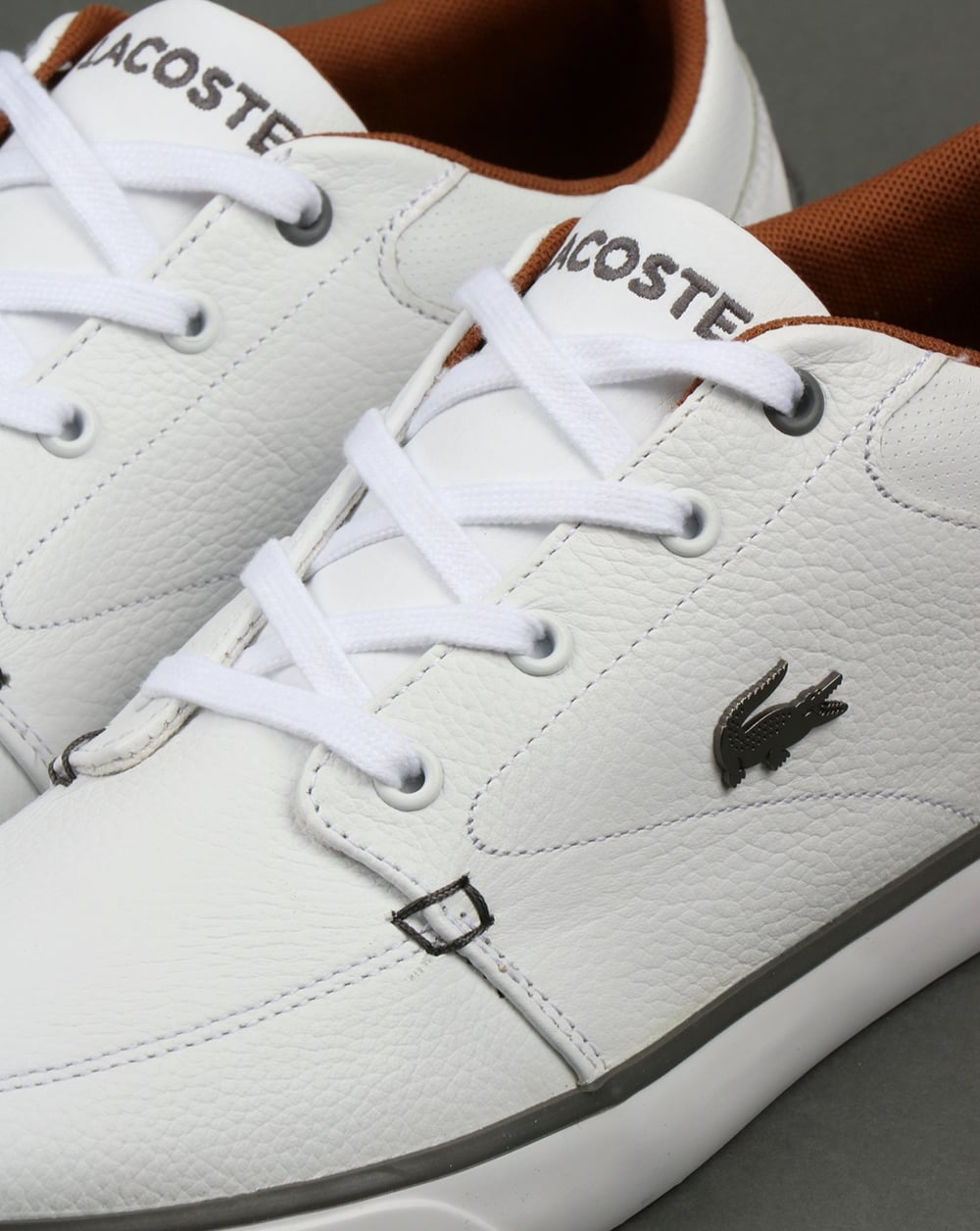 623a9cdab1e3b8 Lacoste Footwear Bayliss Leather Trainers White