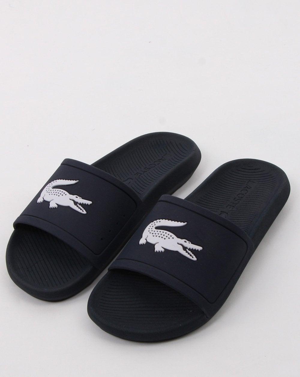 5c14072bbdf3 Lacoste Lacoste Footwear Croco Slide Navy white