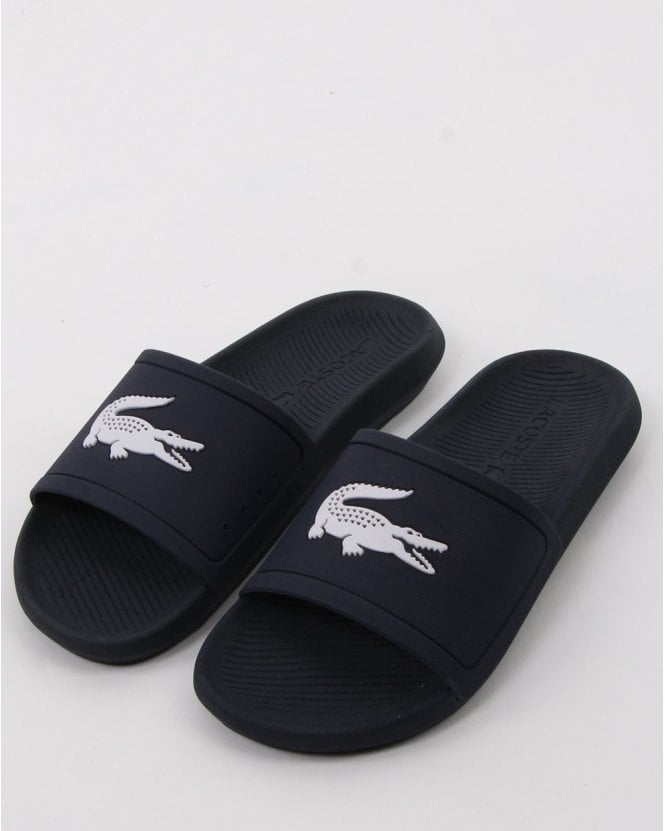Lacoste Footwear Croco Slide Navy/white